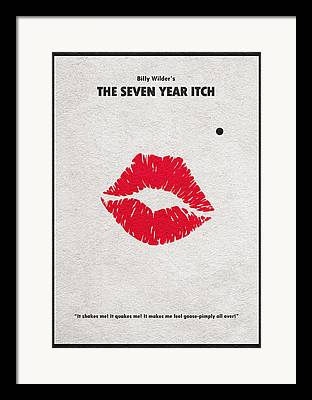 Seven Years Itch Framed Prints