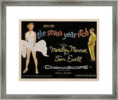 The Seven Year Itch Framed Print by Georgia Fowler