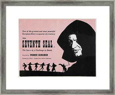 The Seventh Seal, Us Lobbycard, 1957 Framed Print
