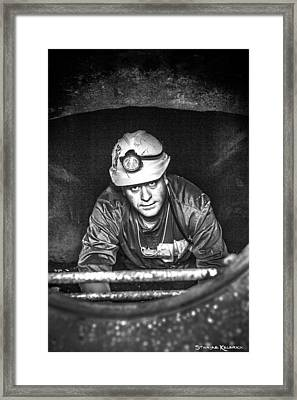 Framed Print featuring the photograph The Sewer Guy by Stwayne Keubrick