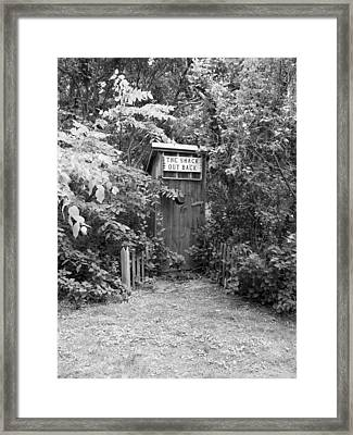 The Shack Out Back In Black And White Framed Print
