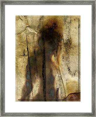 The Shadow Of Her Framed Print by Gun Legler