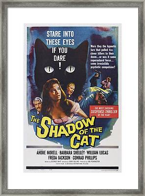 The Shadow Of The Cat, Us Poster Framed Print