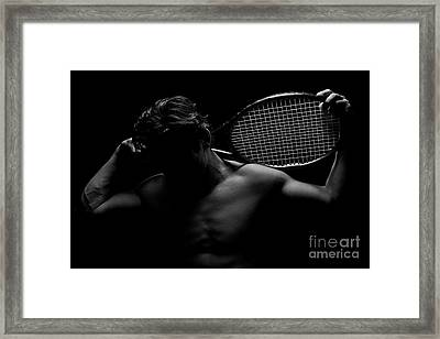 The Shadowed Player Framed Print