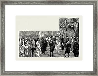 The Shah Of Persia In England, Uk, 1889 The Ball Framed Print by Litz Collection