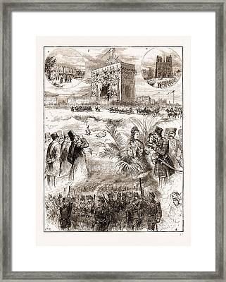 The Shah Of Persia Iran In Paris France 1873 Framed Print by Litz Collection