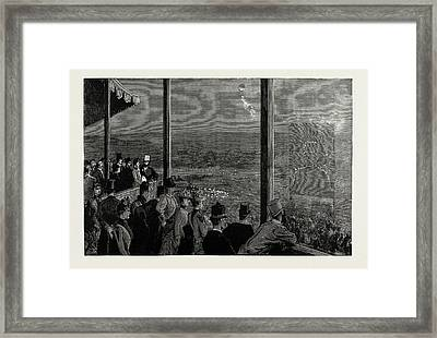 The Shahs Visit To The Crystal Palace The Fireworks Framed Print