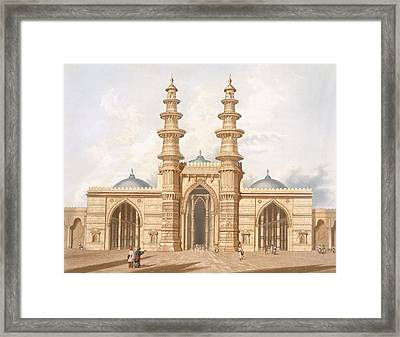 The Shaking Minarets Of Ahmedabad Framed Print by Captain Robert M Grindlay
