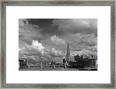 The Shard At Southwark Black And White Framed Print by Gary Eason