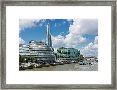 The Shard London Framed Print by Donald Davis