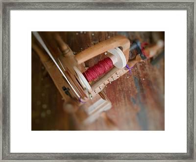 The Shawl Yarn Framed Print by Aliceann Carlton