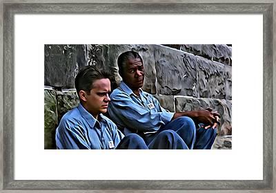 The Shawshank Redemption Framed Print by Florian Rodarte