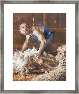 The Shearing Framed Print by Mia DeLode