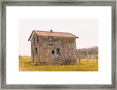 The Shed Framed Print by David Simons