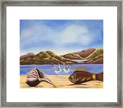 The Shell The Fish The Sea Framed Print