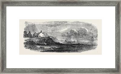 The Shellfish Supplies Shellfish Catchers Cottage At Canty Framed Print