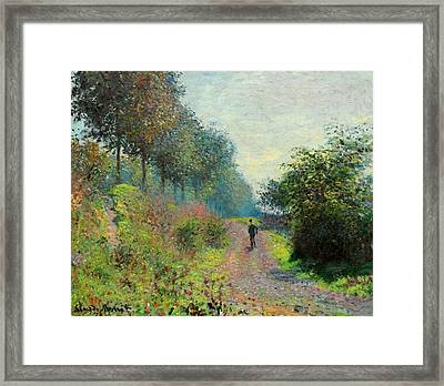 The Sheltered Path Framed Print