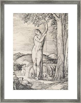 The Shepherd, 1828 Engraving Framed Print by George Richmond