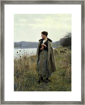 The Shepherdess Of Rolleboise Framed Print