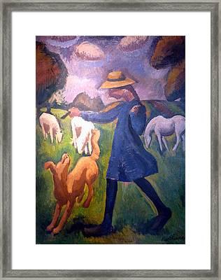 The Shepherdess Framed Print by Roger de La Fresnaye