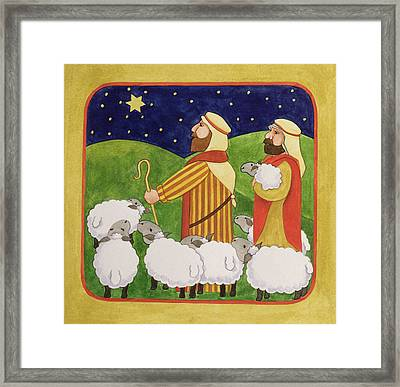 The Shepherds Framed Print by Linda Benton