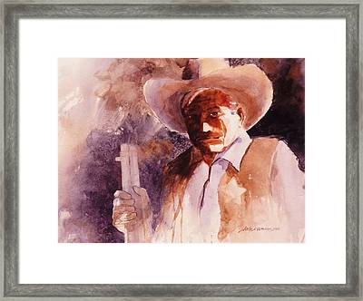 Framed Print featuring the painting The Sheriff  by John  Svenson