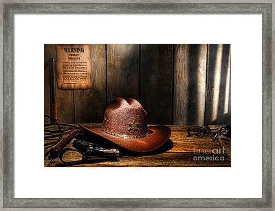 The Sheriff Office Framed Print by Olivier Le Queinec