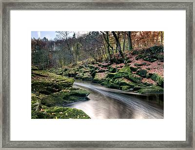 The Shimmering Strid Framed Print by Chris Frost
