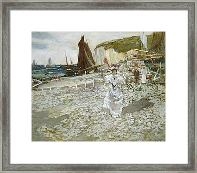 The Shingle Beach Framed Print by James Kay