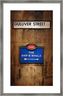The Ship And Whale Framed Print
