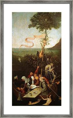 The Ship Of Fools Framed Print by Hieronymus Bosch