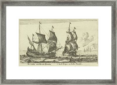 The Ships T Yellow Fortune And Love, Anonymous Framed Print
