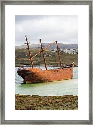 The Shipwreck Of The Lady Elizabeth Framed Print by Ashley Cooper