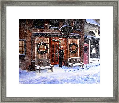 The Shiver And Shake Watch On Christmas Eve Framed Print