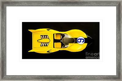 The Shooting Star Racer Xs Number 9 Race Car Framed Print by Edward Fielding