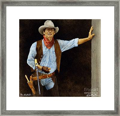 The Shootist... Framed Print by Will Bullas