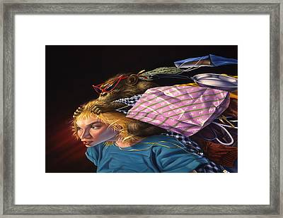 The Shopping Monkey Framed Print