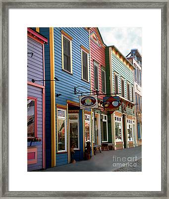 Framed Print featuring the photograph The Shops In Crested Butte by RC DeWinter