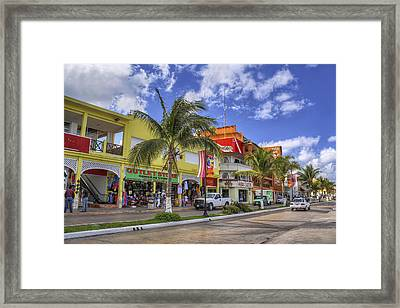 The Shops Of Cozumel Framed Print
