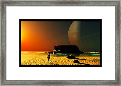 The Shore Of The Cupric Seas... Framed Print