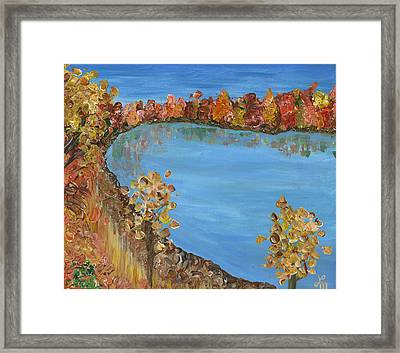 The Shores Of Dellwood Framed Print by Lindsey Mathewson