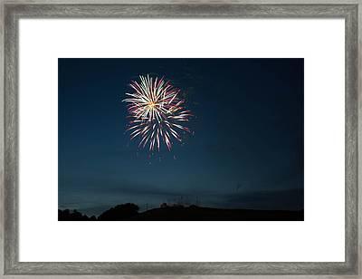 West Virginia Day Fireworks Show Begins Framed Print