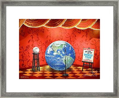 The Show Must Go On Framed Print