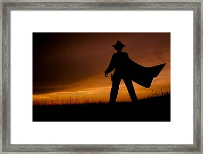 The Showdown  Framed Print