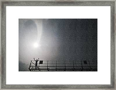 Shower From Above Framed Print by Kellice Swaggerty