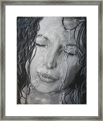 The Shower Framed Print