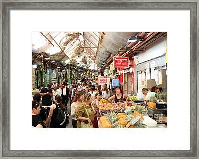 The Shuk  Framed Print by Doc Braham