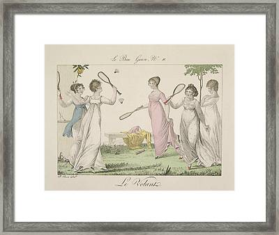 The Shuttlecock, Plate 11 From Le Bon Framed Print by French School