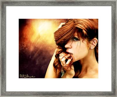The Shy Girl Framed Print by Rick Buggy