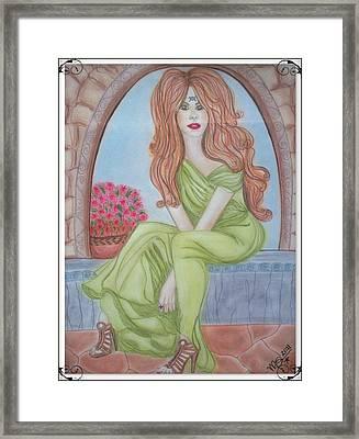 The Sibyl - Grecian Goddess Framed Print